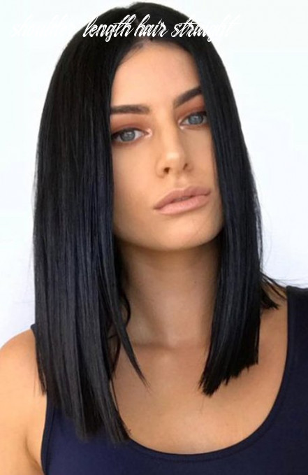 10 beautiful shoulder length hairstyles for women the trend spotter shoulder length hair straight