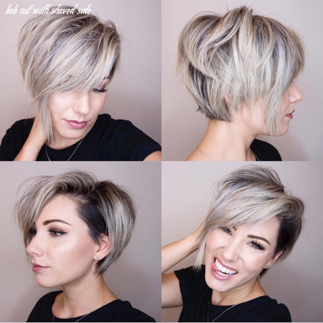 10 chic shaved haircuts for short hair 10 bob cut with shaved side