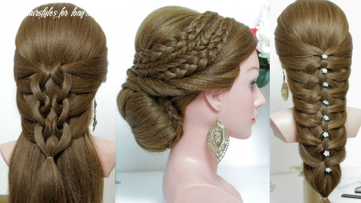 10 cute and easy hairstyles for long hair tutorial