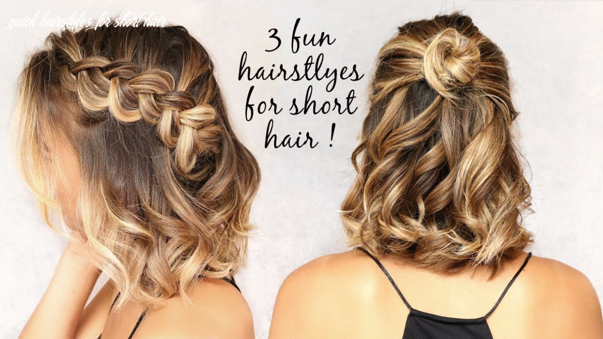 10 easy hairstyles for short hair! quick hairstyles for short hair