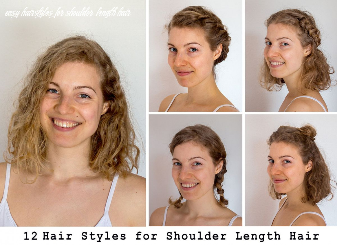 10 easy hairstyles for shoulder length hair | shoulder length hair