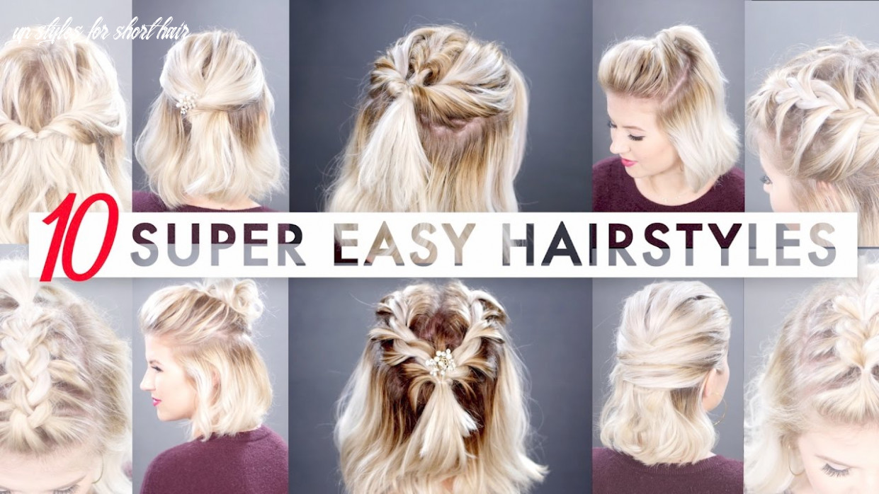 10 easy half up hairstyles for short hair tutorial | milabu up styles for short hair