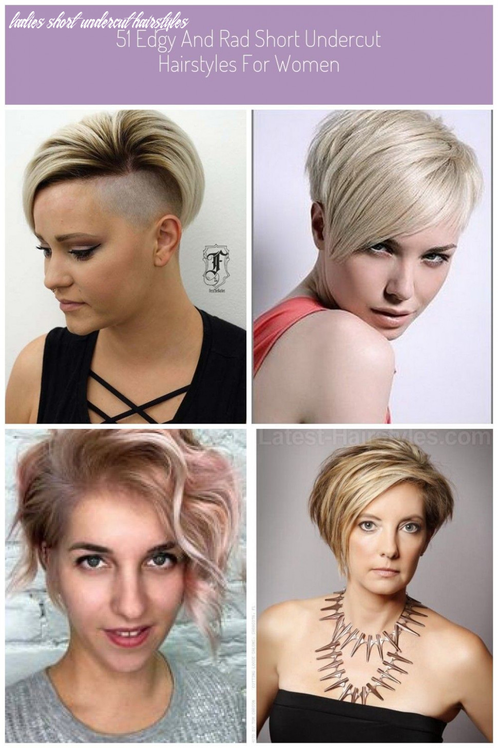 10 edgy and rad short undercut hairstyles for women | frisur