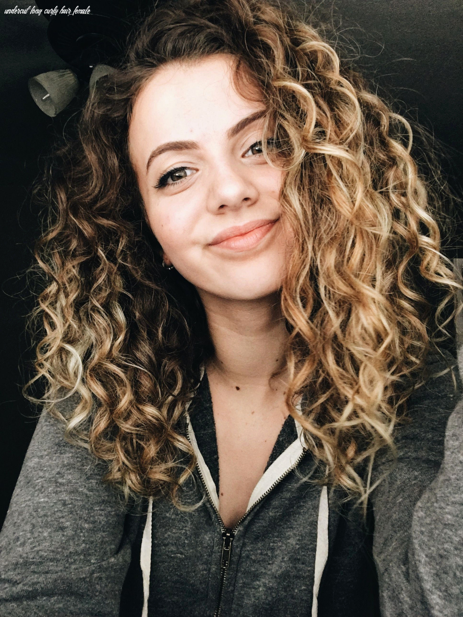 10 good looking undercuts for women with curly hair undercut long curly hair female