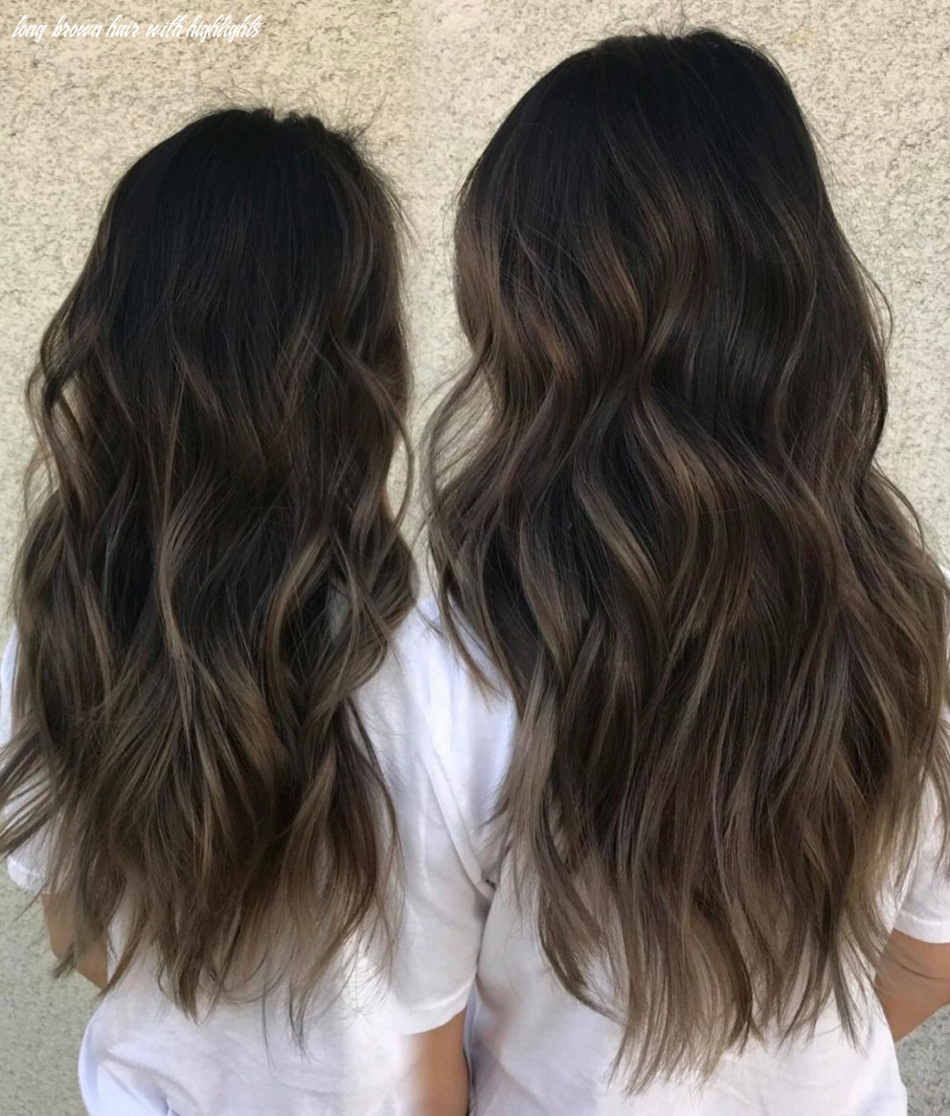10 hairstyles featuring dark brown hair with highlights | haare