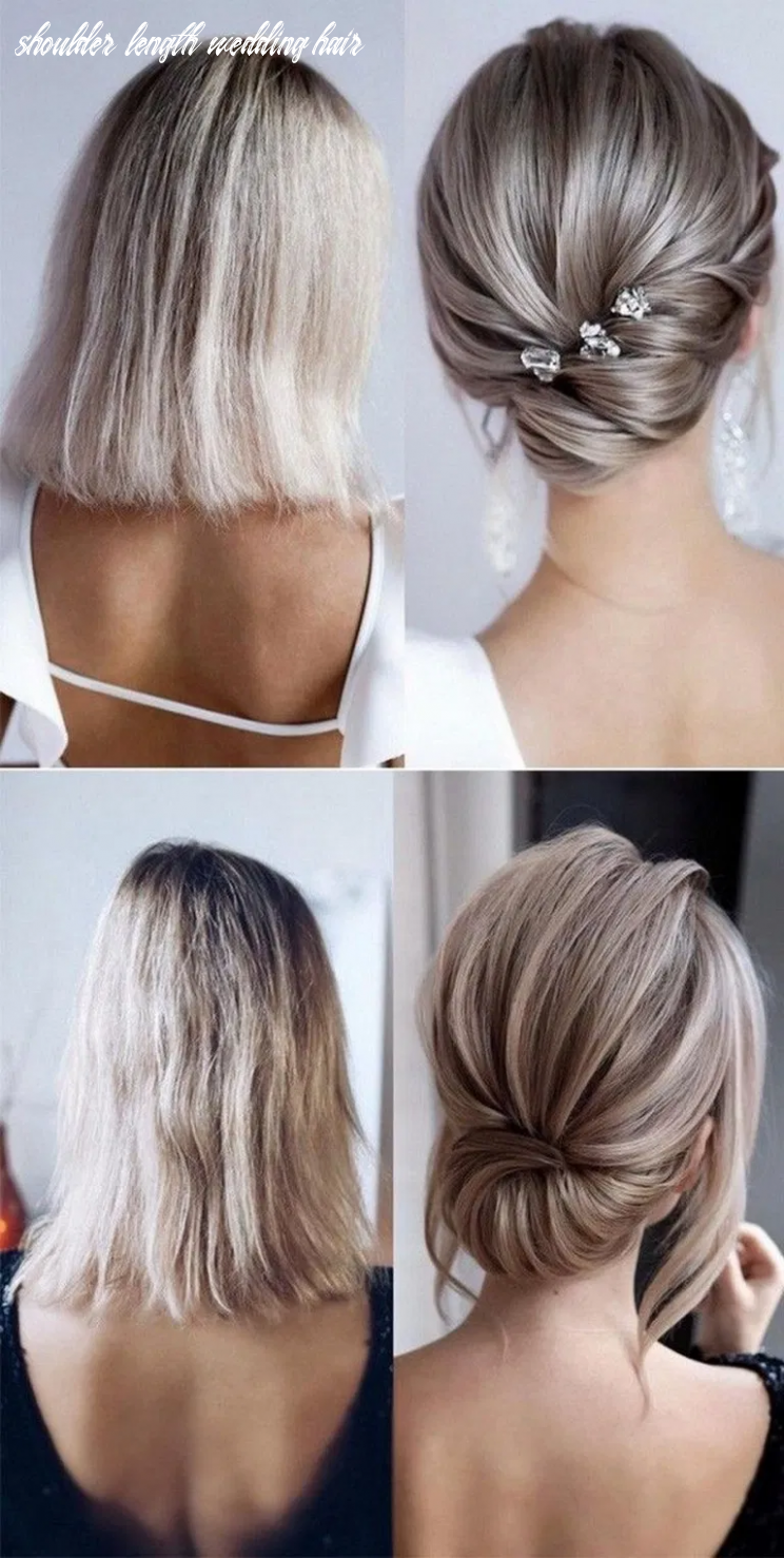 10 medium length wedding hairstyles for 10 brides 10 (with