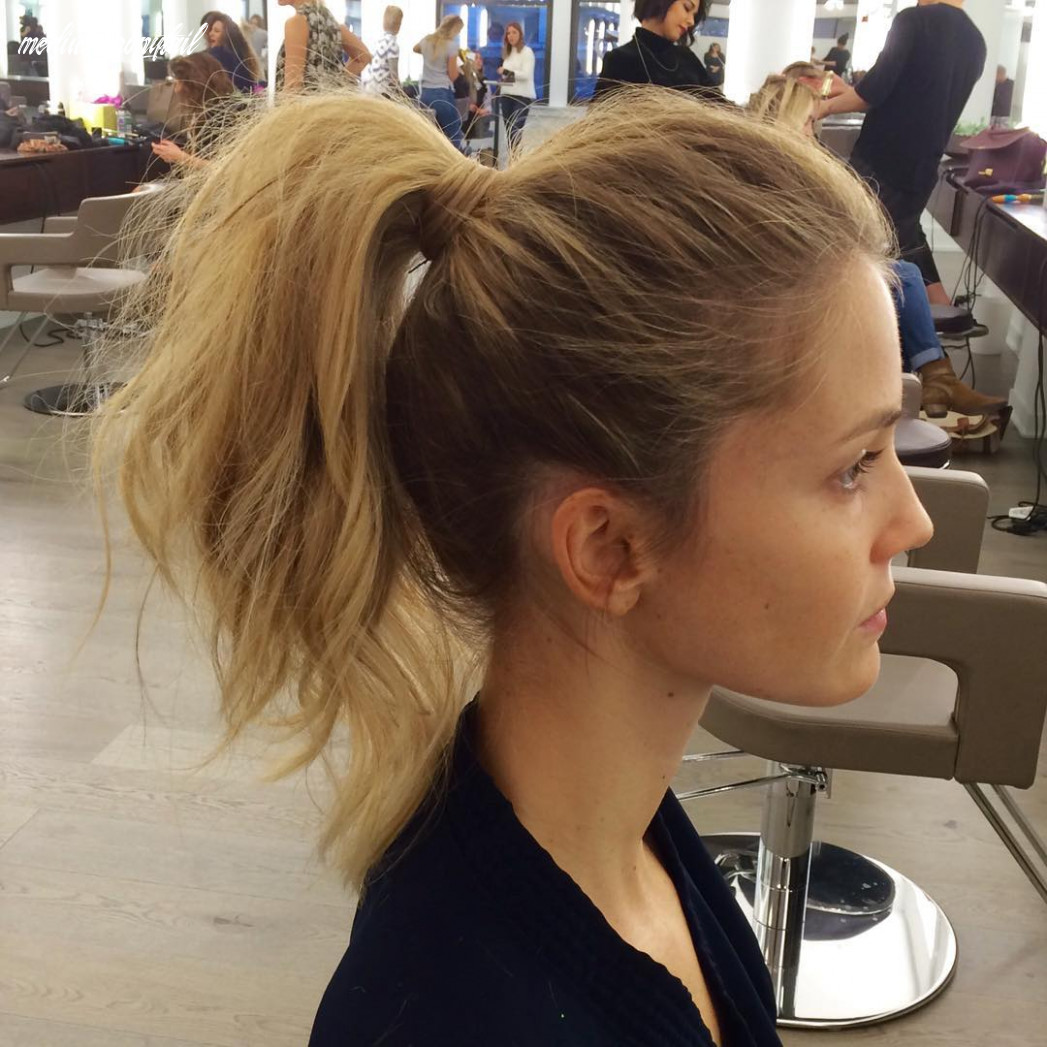 10 messy ponytails for every occasion reviewtiful medium ponytail