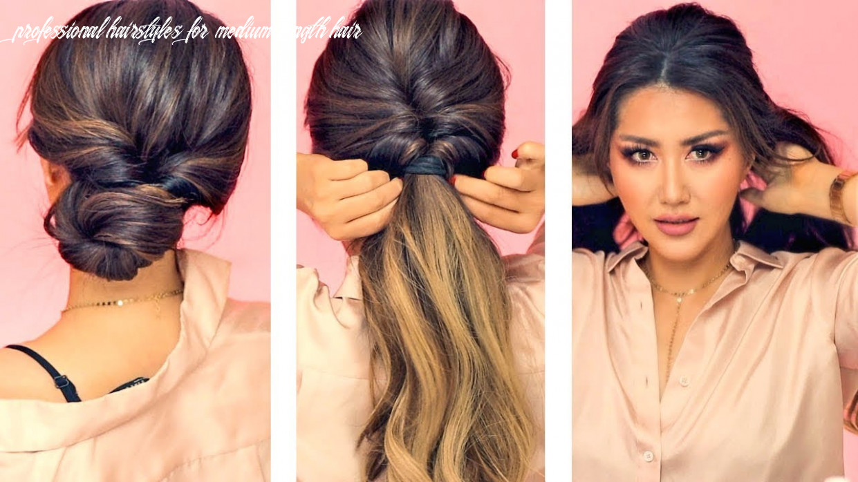 ★ 10 min everyday hairstyles for work! 💗 with puff 💗 easy braids & updo for long 💗 medium hair professional hairstyles for medium length hair
