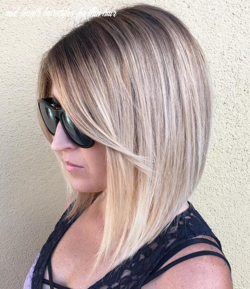 10 most dazzling medium length hairstyles for thin hair haircuts