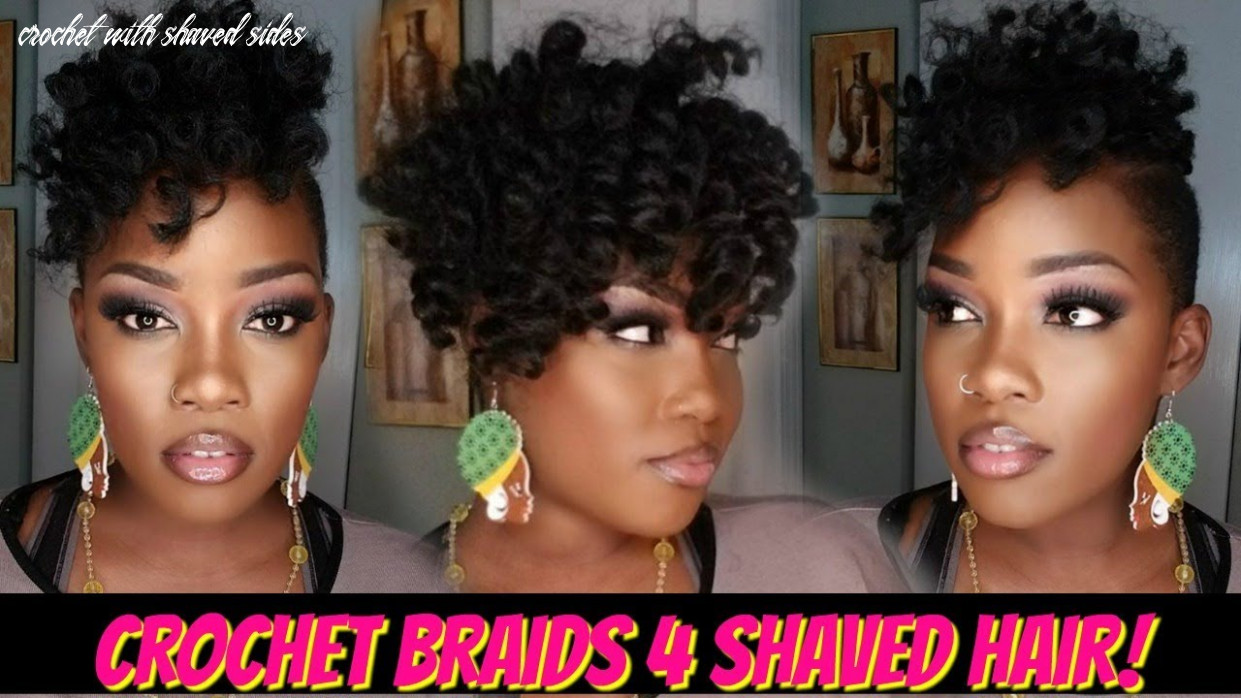 ?10 pack crochet braid quickie 10 shaved hair!   jamaican bounce crochet with shaved sides