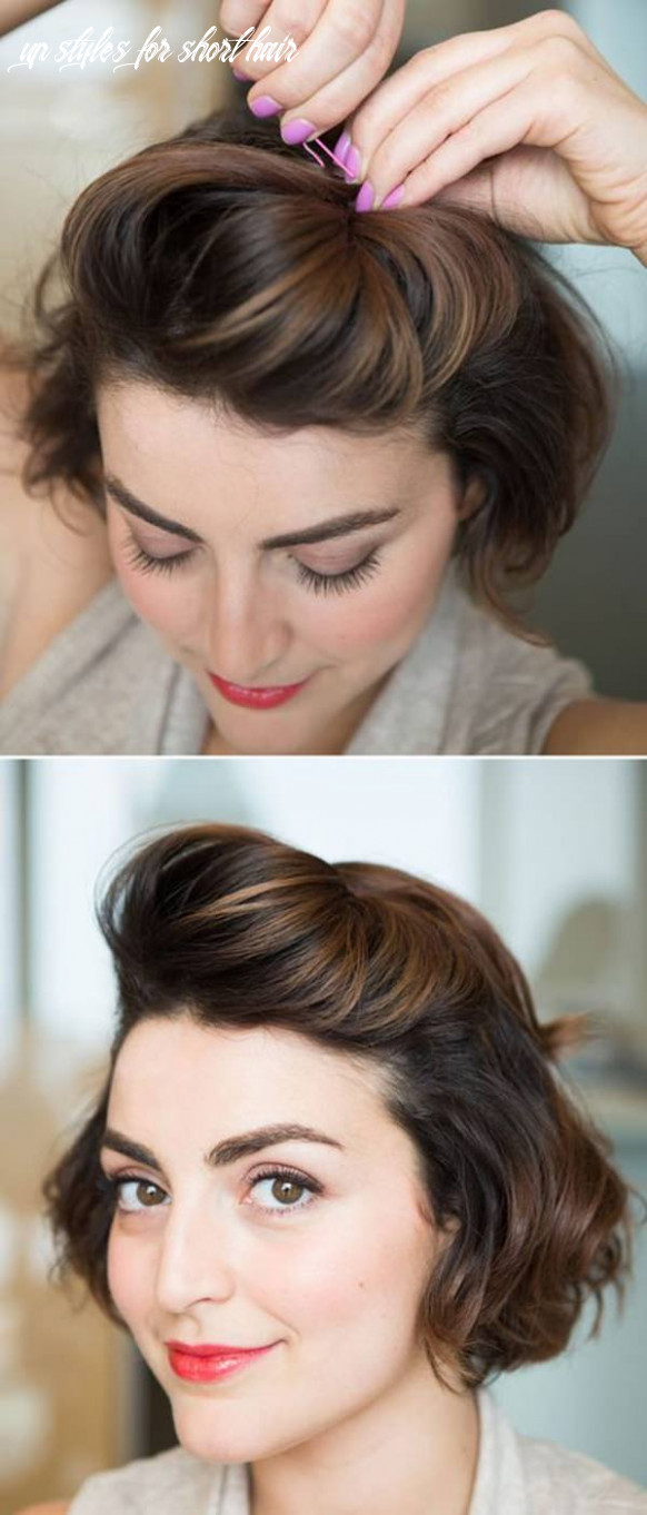10 sexy and sassy updos for short hair up styles for short hair