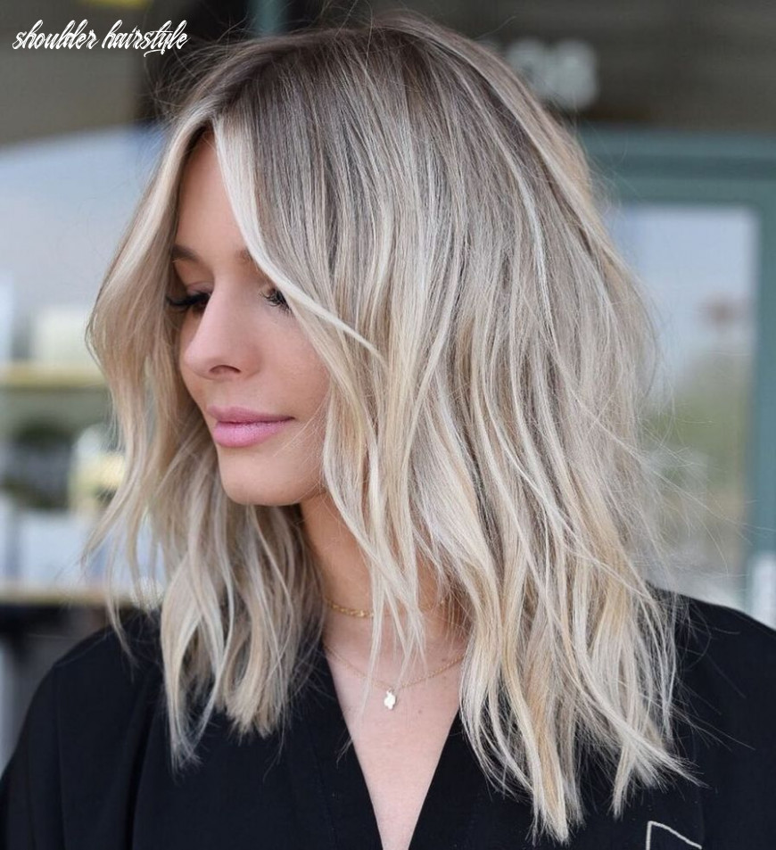 10 shoulder length haircuts to excite you – eazy glam shoulder hairstyle