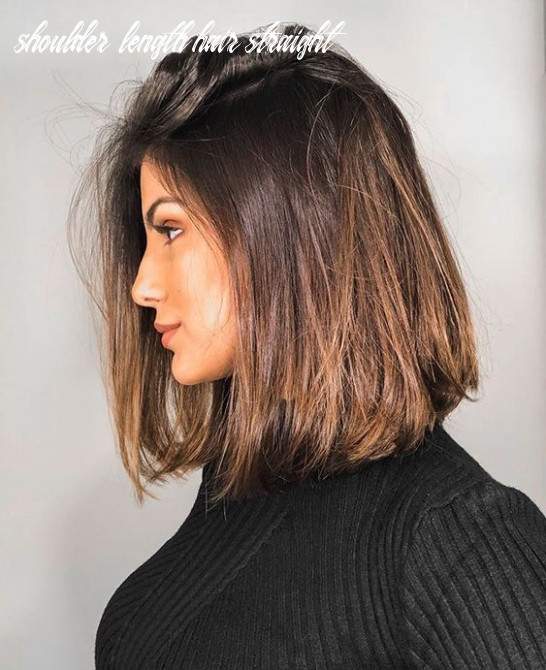 10 straight medium length hairstyles for women to look attractive