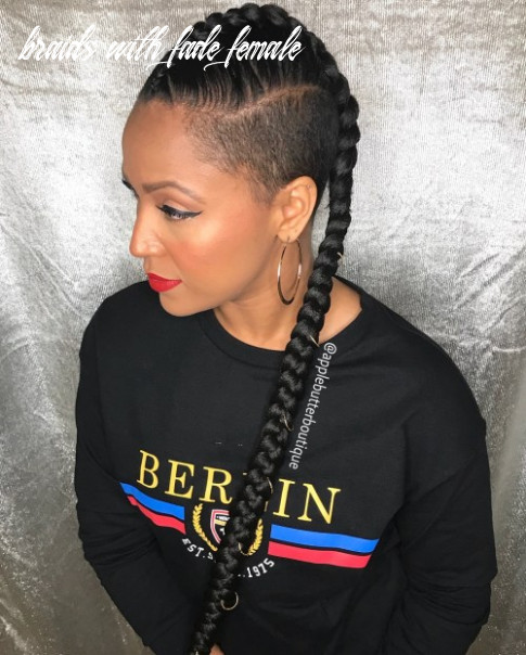10 superb braids with shaved sides worth copying braids with fade female