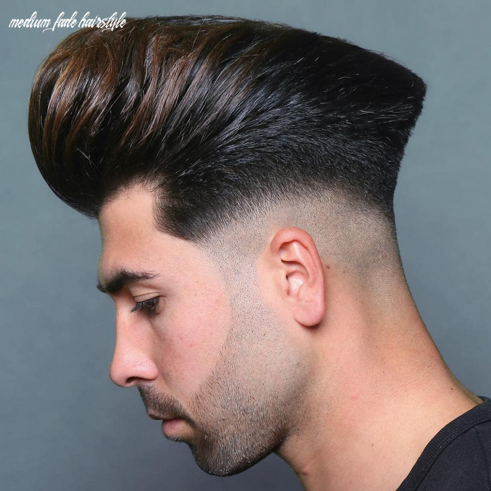 10 the most fashionable mid fade haircuts for men medium fade hairstyle