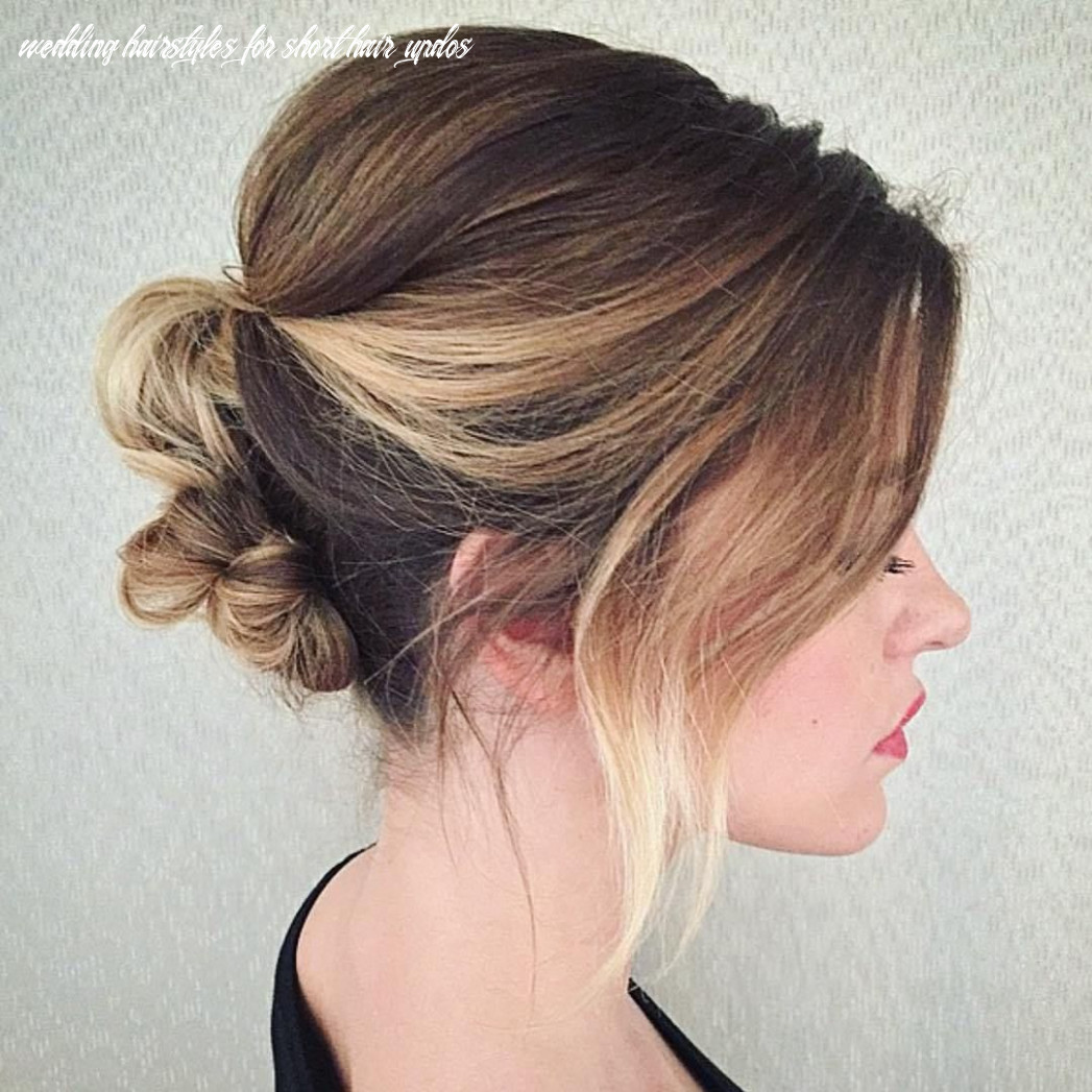 10 unapologetically pretty wedding updo ideas for short hair