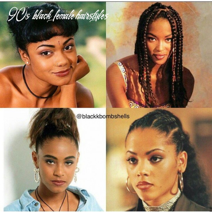 10s black women   10s hairstyles, hair styles, thick hair styles 90s black female hairstyles