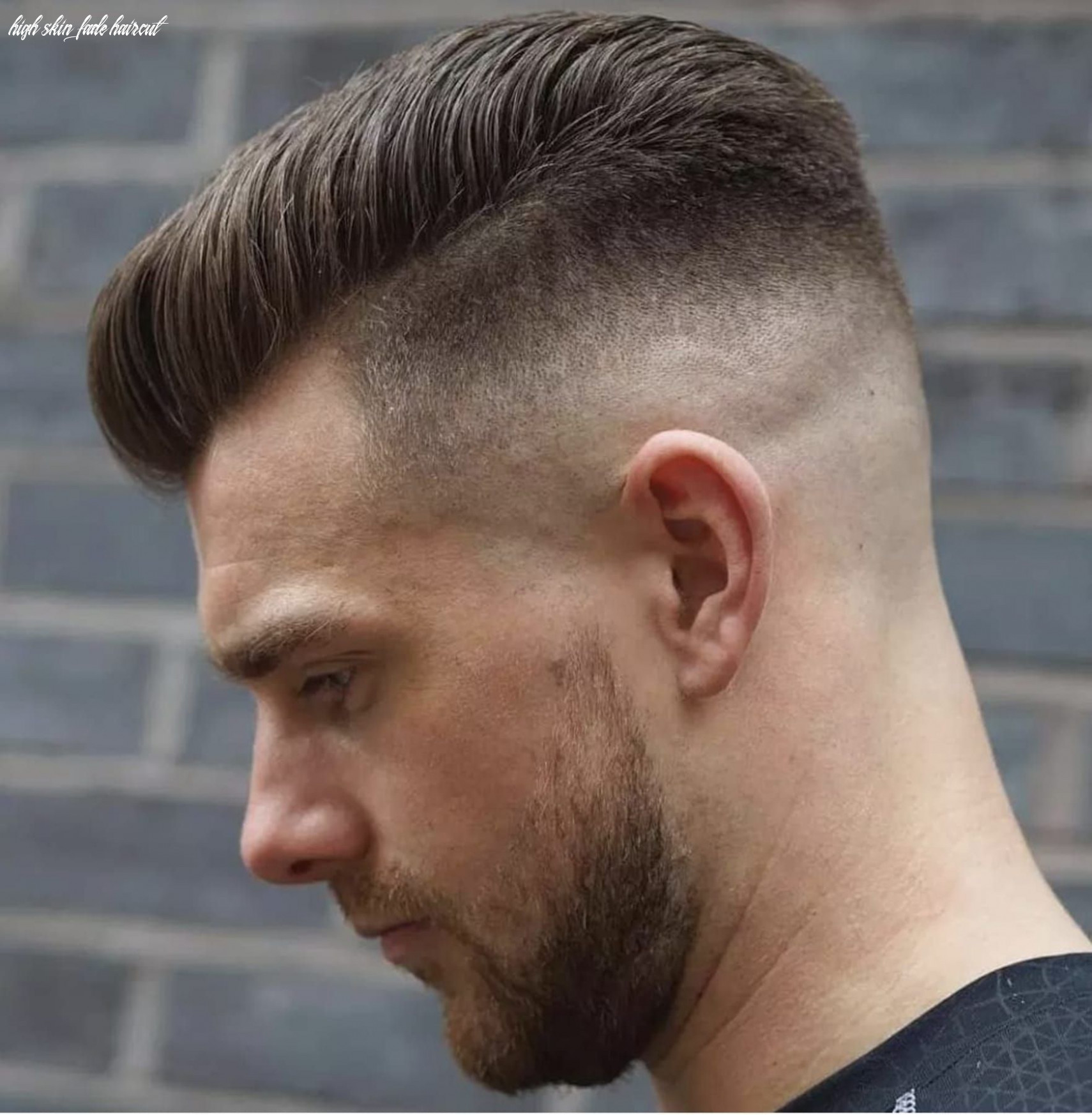 11 Best High Fade Haircut Styles | Skin fade pompadour, Mens ...