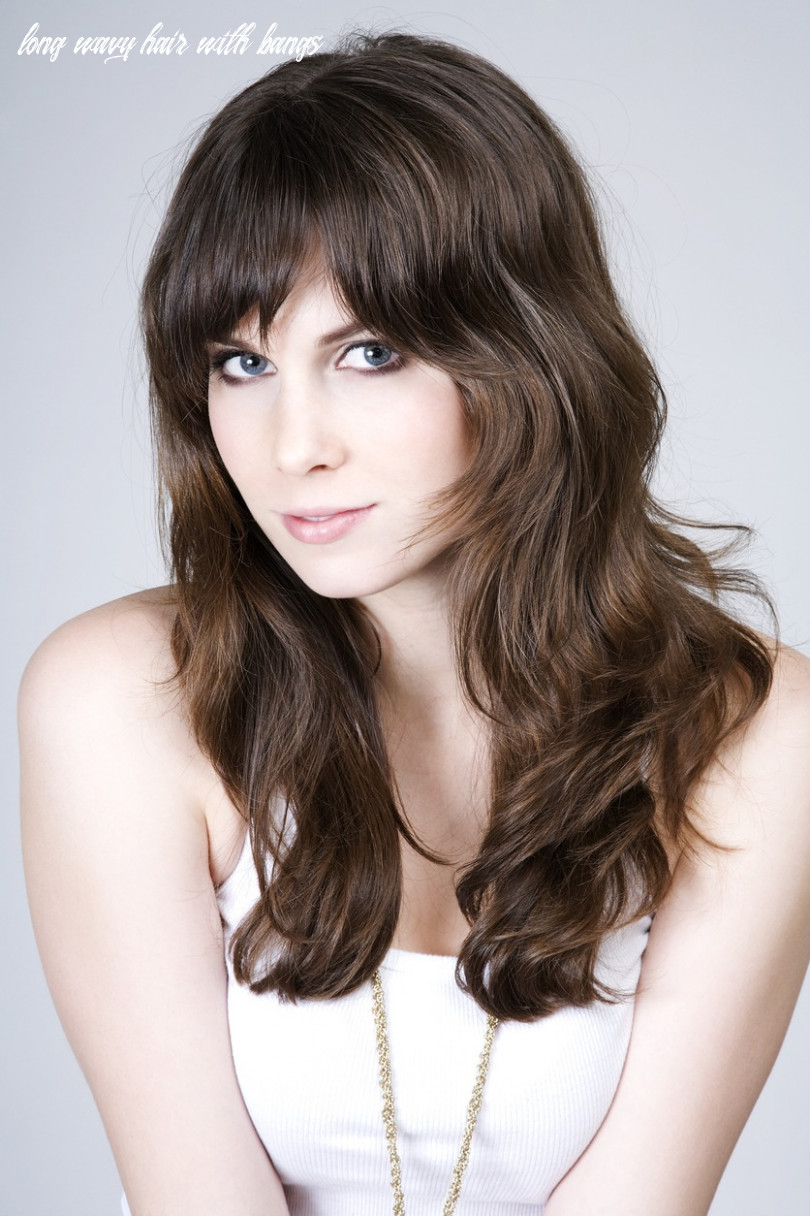 11 best wavy hair with bangs ideas for 11 | all things hair usa long wavy hair with bangs