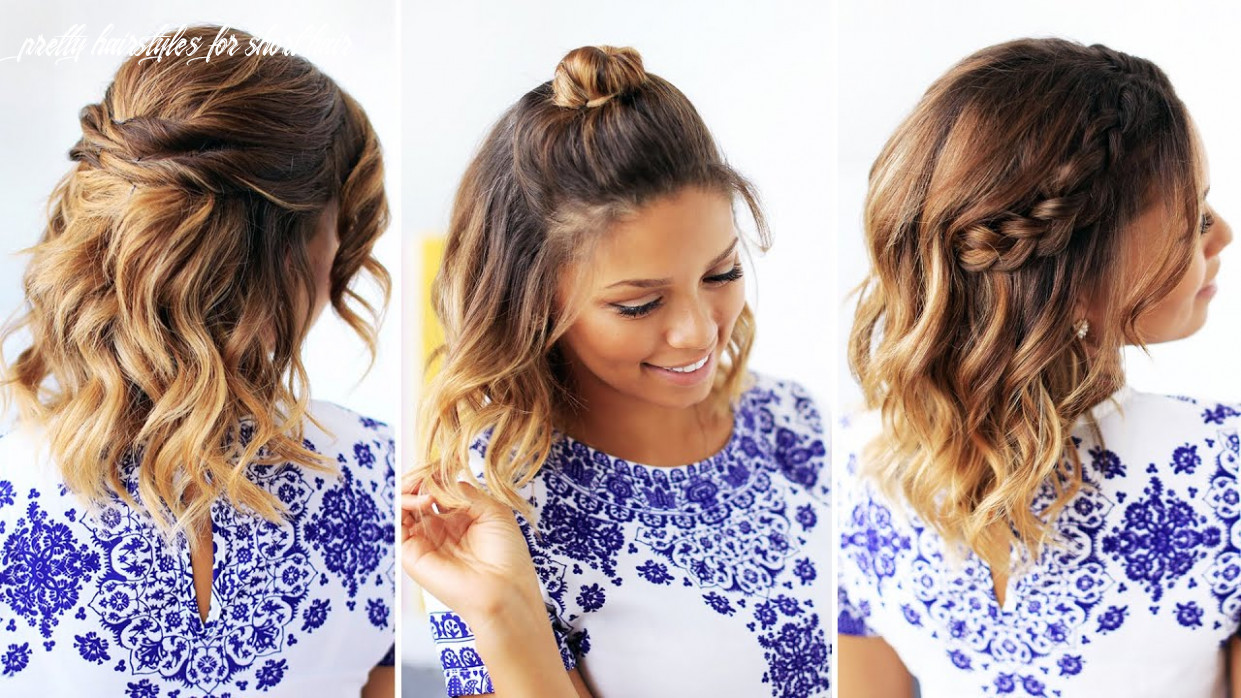 11 easy hairstyles for short hair pretty hairstyles for short hair
