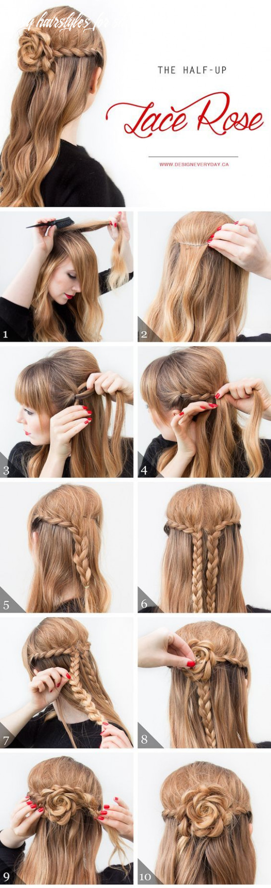 11 Easy Step by Step Hair Tutorials for Long, Medium,Short Hair ...