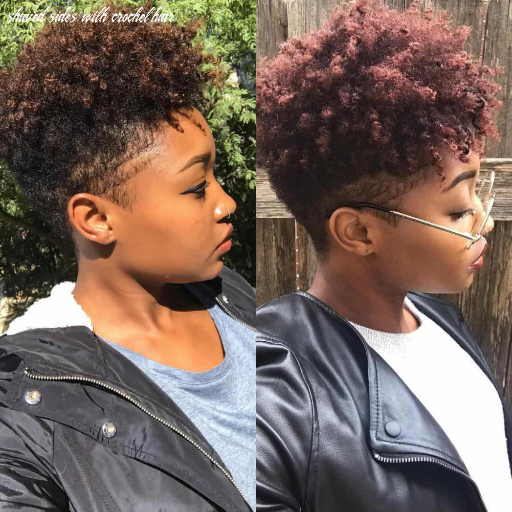 11 hot and sexy shaved sides hairstyles you should try asap shaved sides with crochet hair