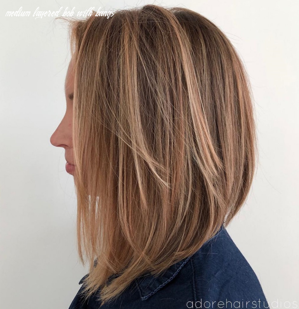 11 layered bobs you will fall in love with hair adviser medium layered bob with bangs