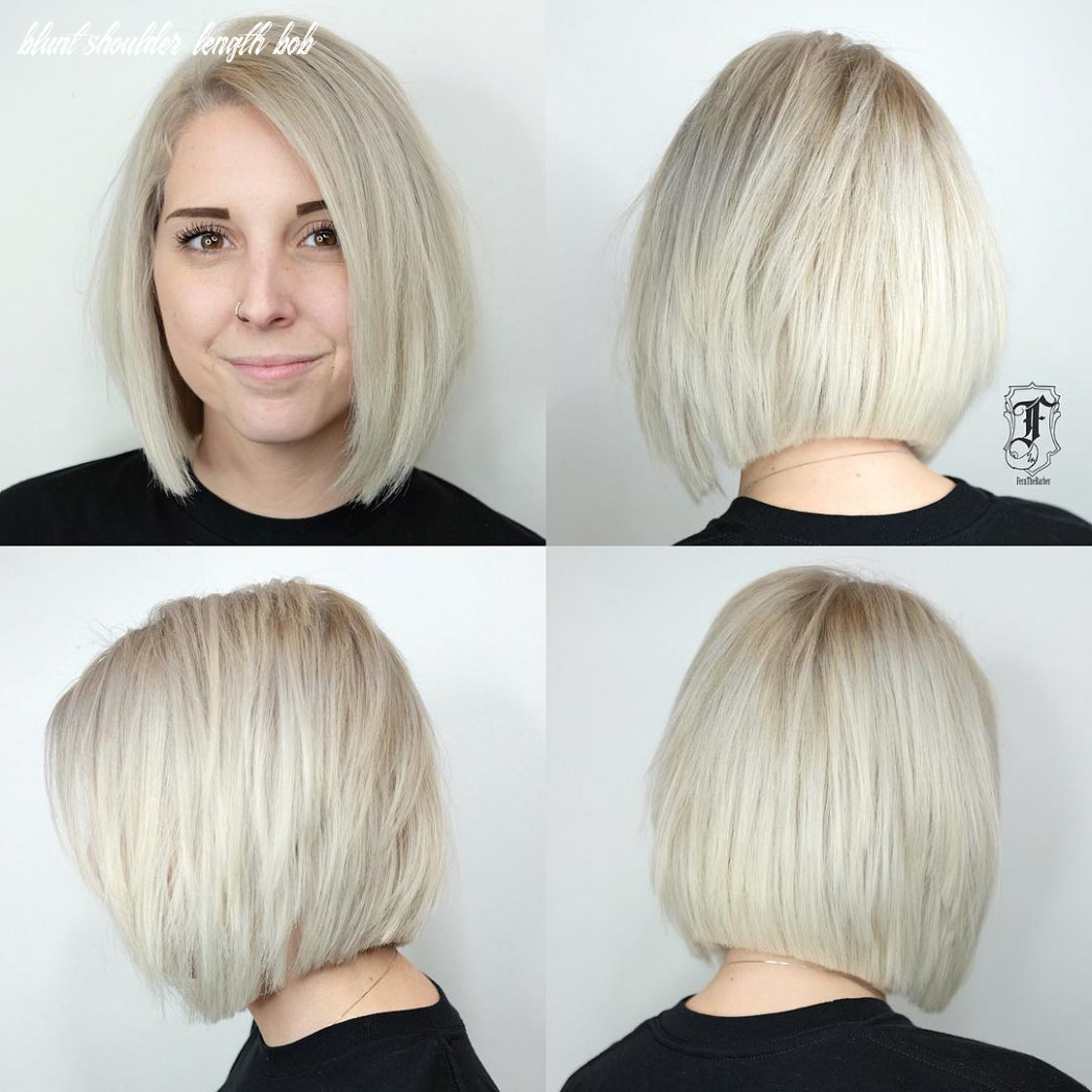11 medium bobs from the best hairstylists hair adviser blunt shoulder length bob