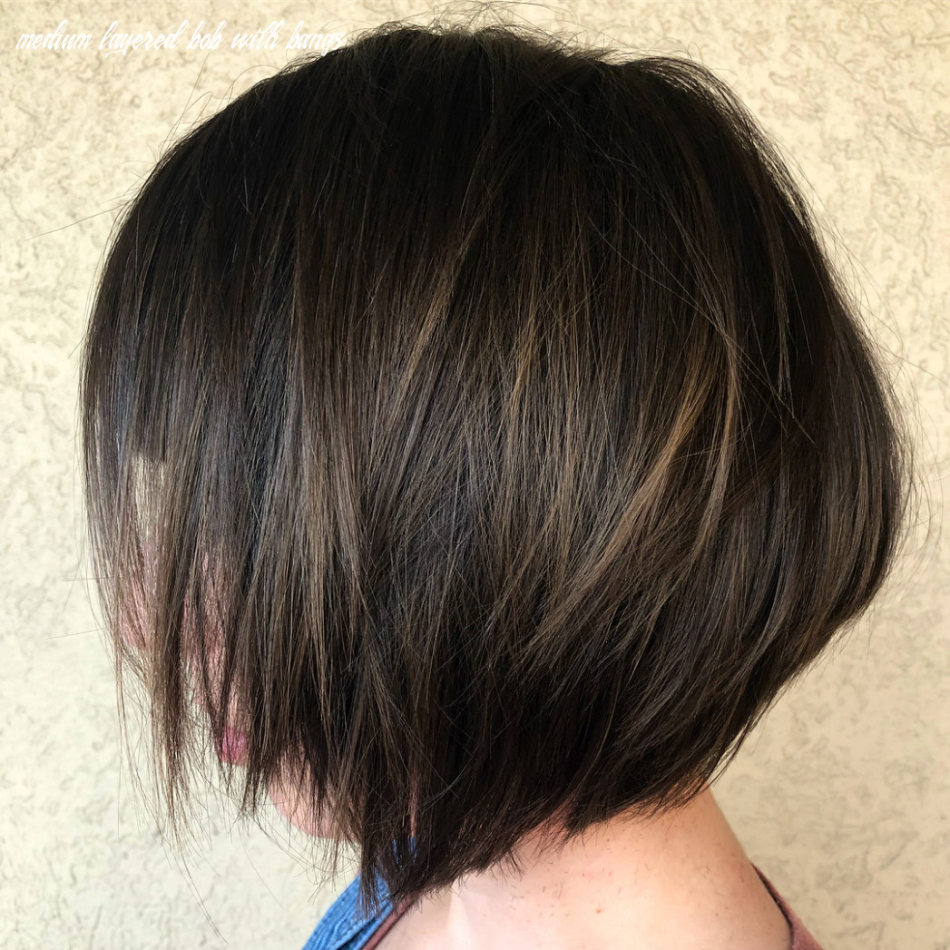11 medium bobs from the best hairstylists hair adviser medium layered bob with bangs