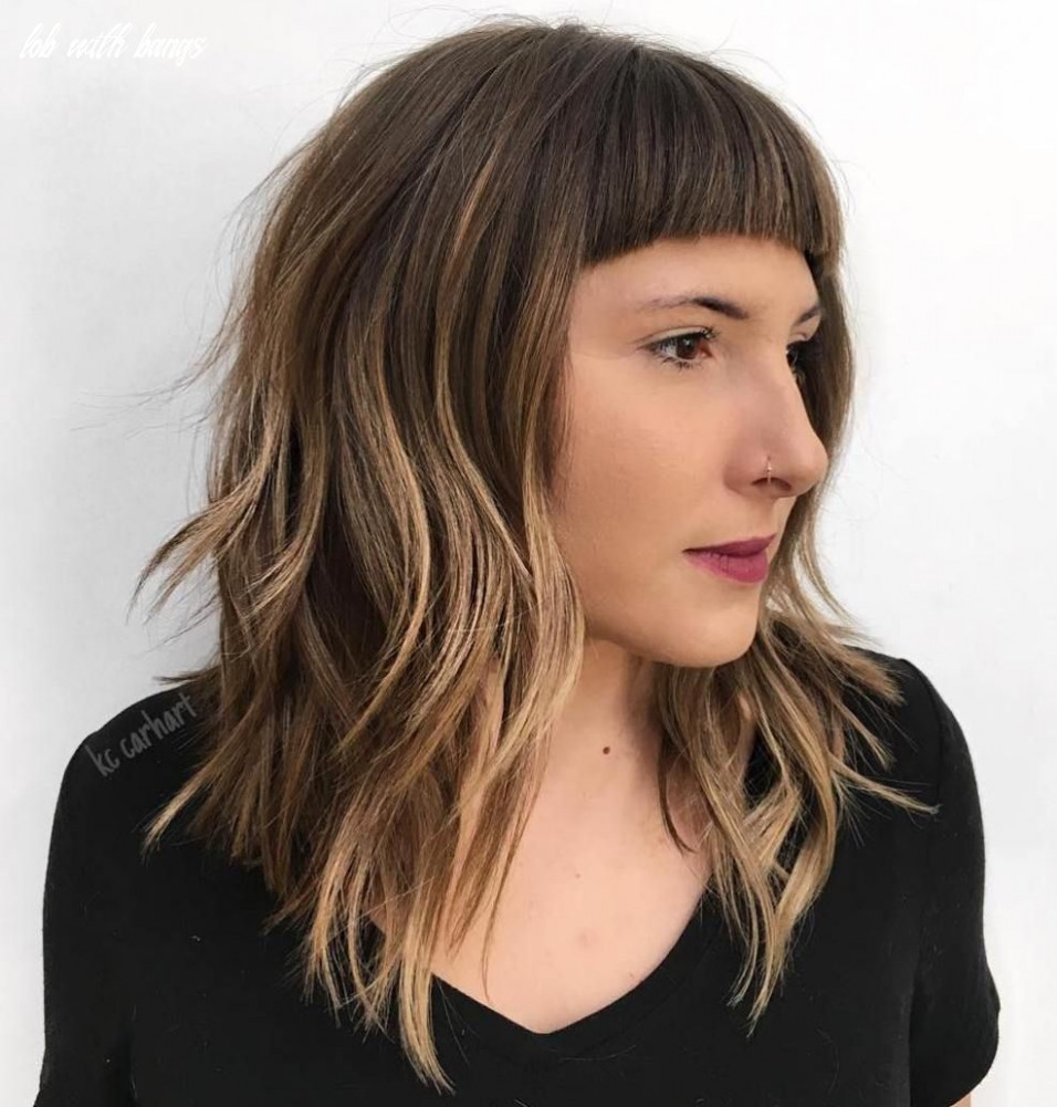 11 modern ways to style a long bob with bangs | long bob with
