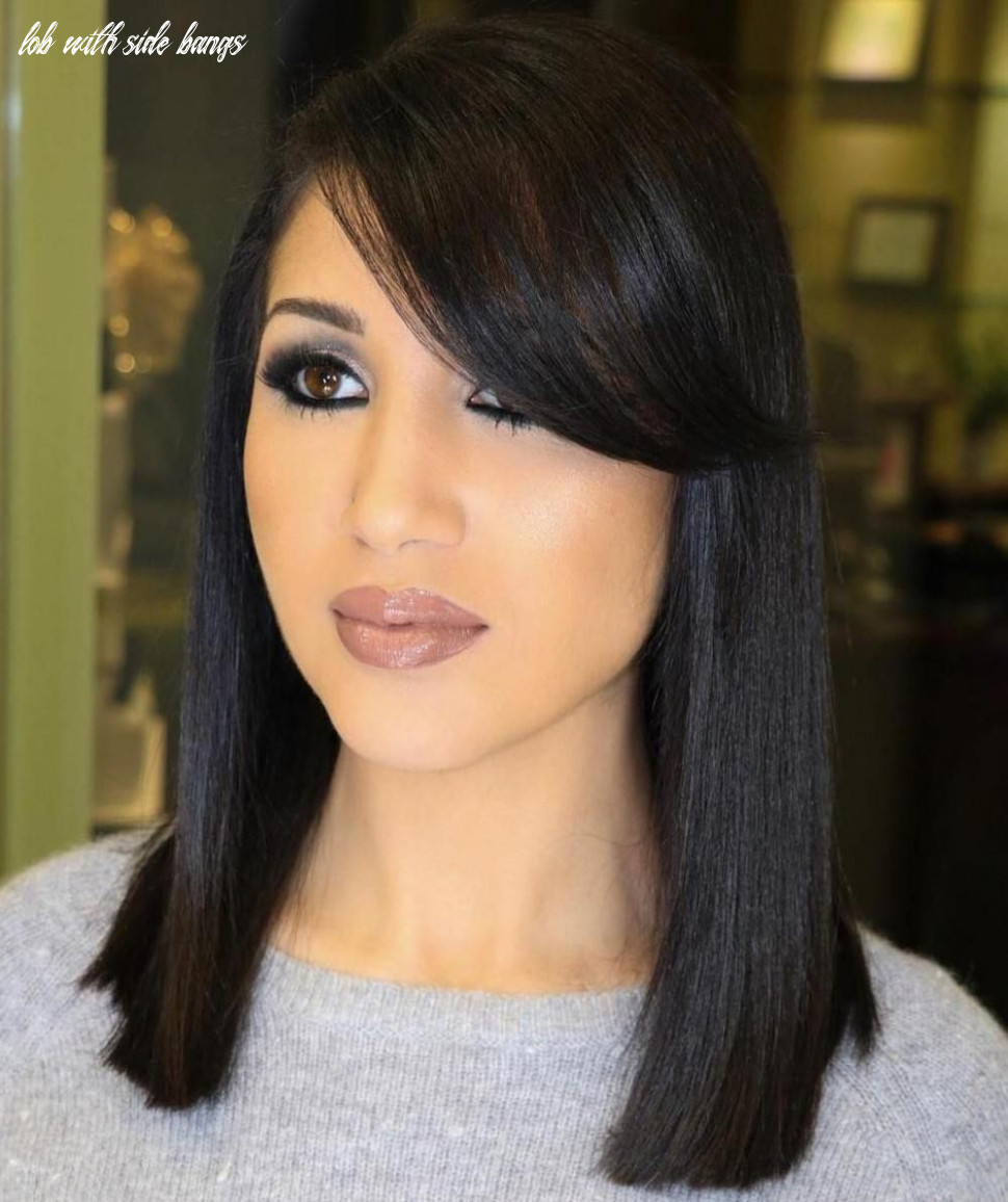 11 modern ways to style a long bob with bangs (with images) | long