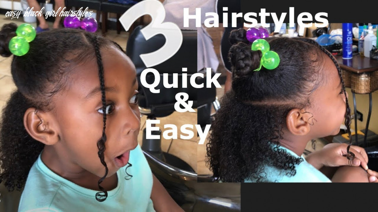 🌀11 quick & easy hairstyles! little black girls | curly hair🌀 easy black girl hairstyles