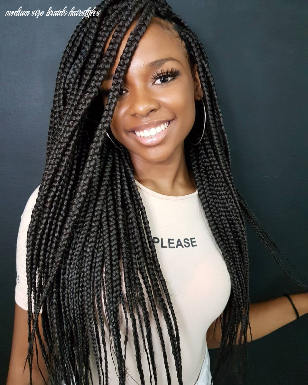11 trendy box braids styles stylists recommend for 11 hair adviser medium size braids hairstyles