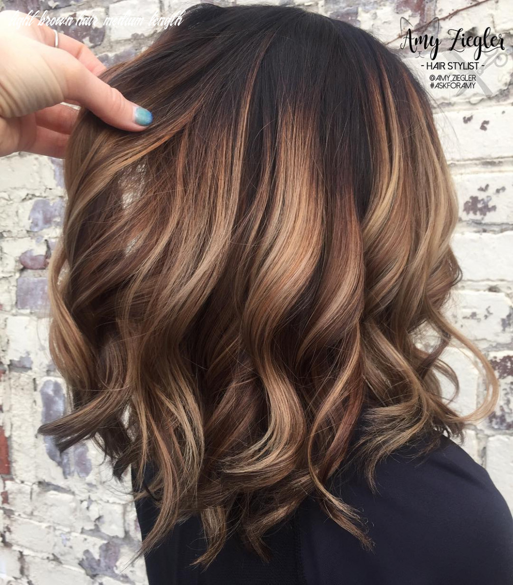 11 trendy brown balayage hairstyles for medium length hair 11 light brown hair medium length