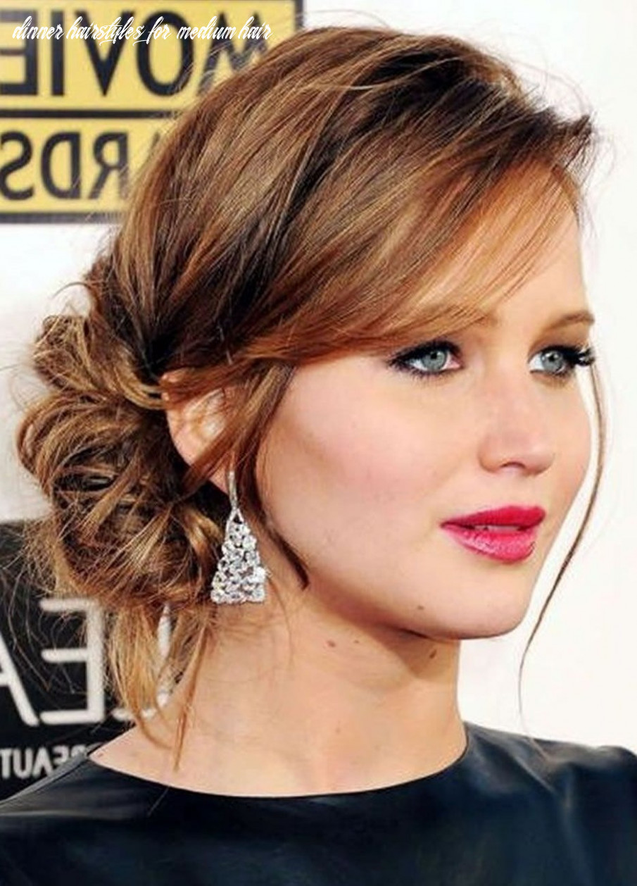 12 awesome party hairstyles for medium hair dinner hairstyles for medium hair