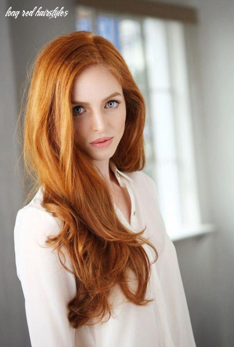 12 best long red hairstyles, haircuts 12 | natural red hair