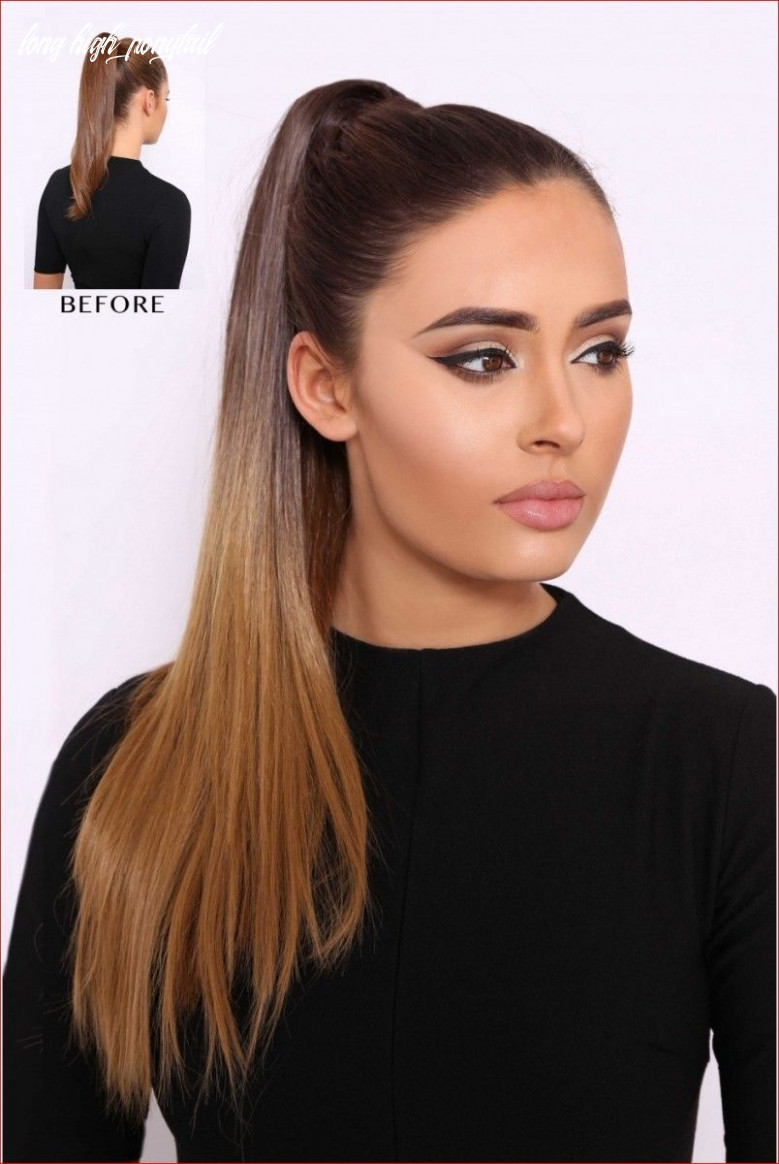 12 cool styles for long hair | high ponytail hairstyles, tail