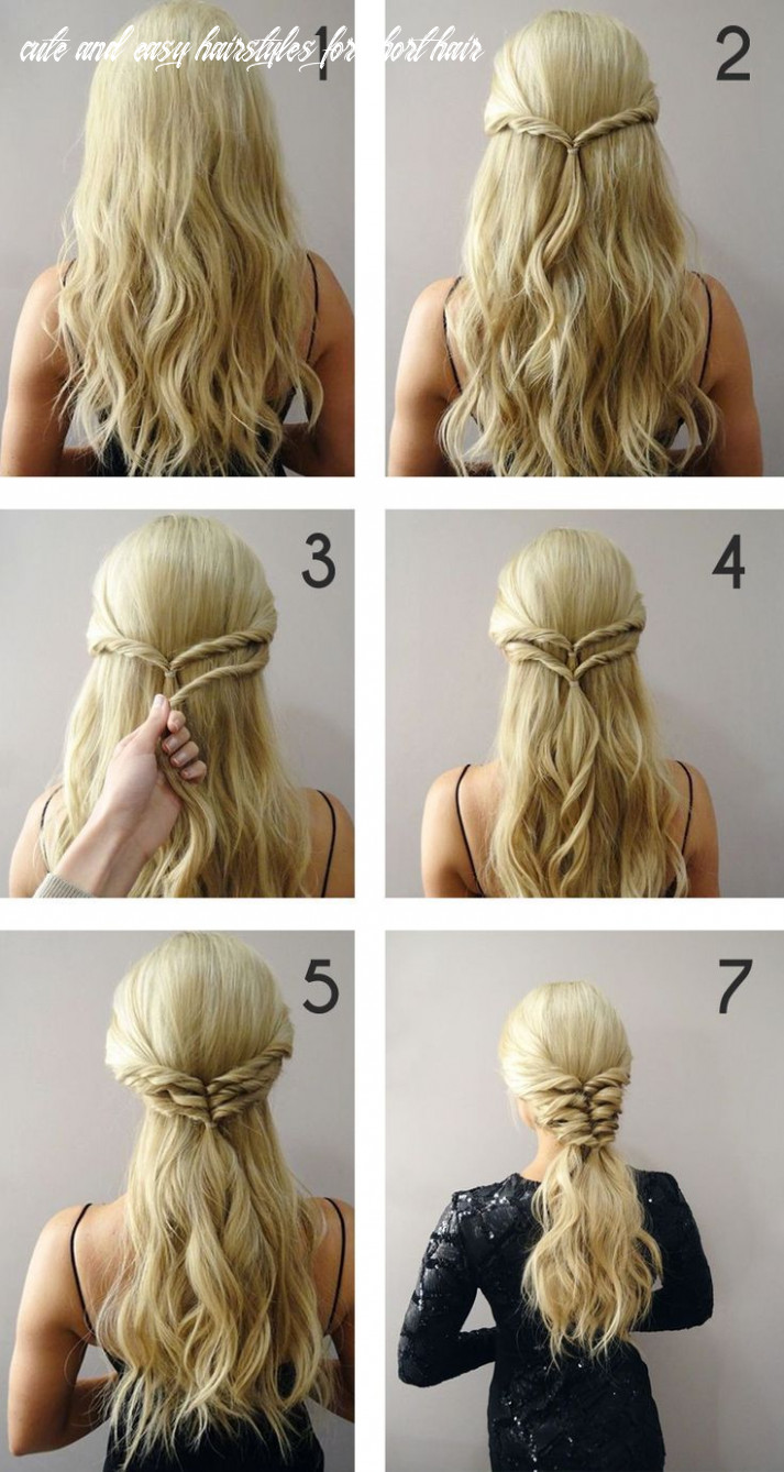 12 Cute Braided Hairstyles for Short Hair | Penteado simples para ...