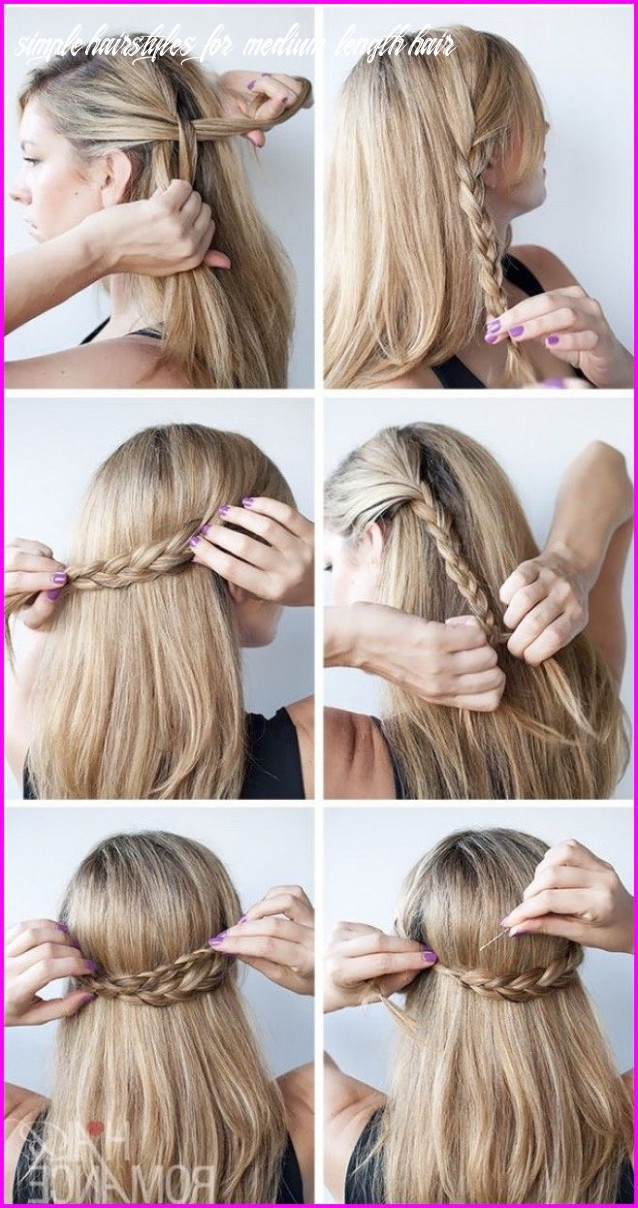 12 Easy and Cute Hairstyles For Medium-Length Hair, | Peinados ...