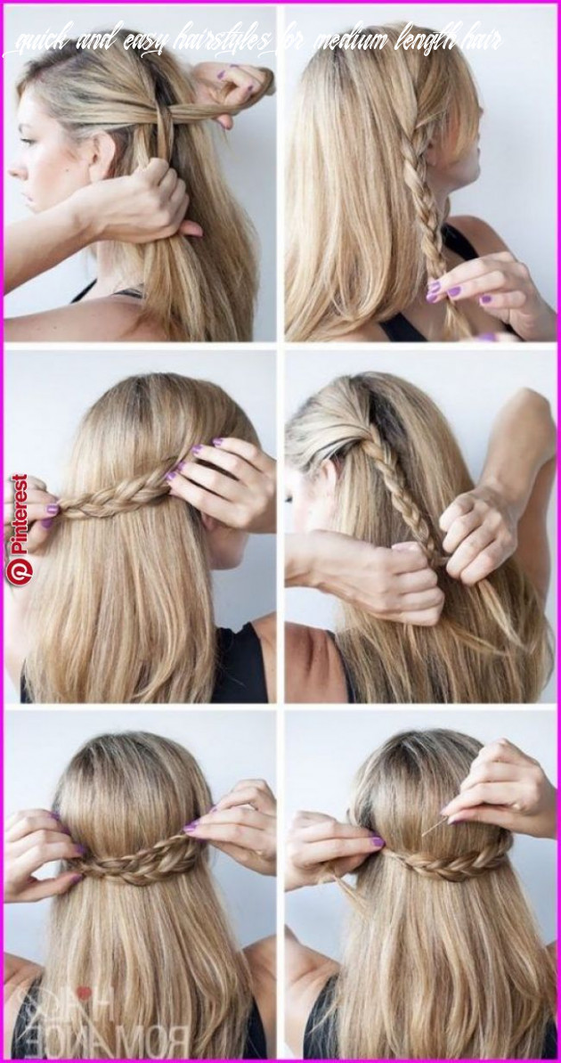 12 Quick And Easy Hairstyles For Medium Length Hair ...