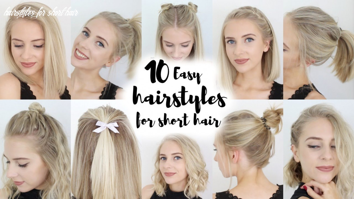 12 easy hairstyles for short hair hairstyles for short hair