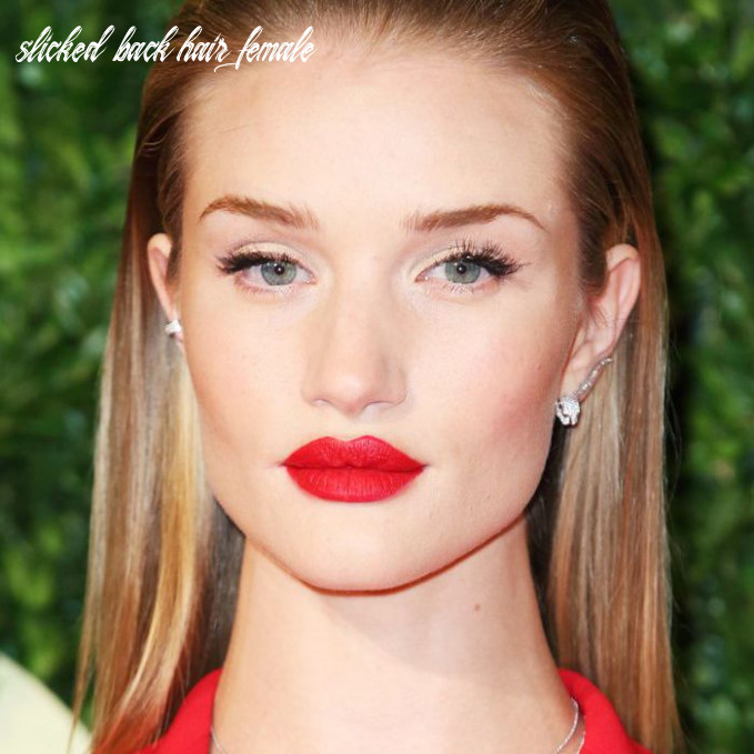 12 examples of slicked back hair that are chic, cool, and easy to do slicked back hair female
