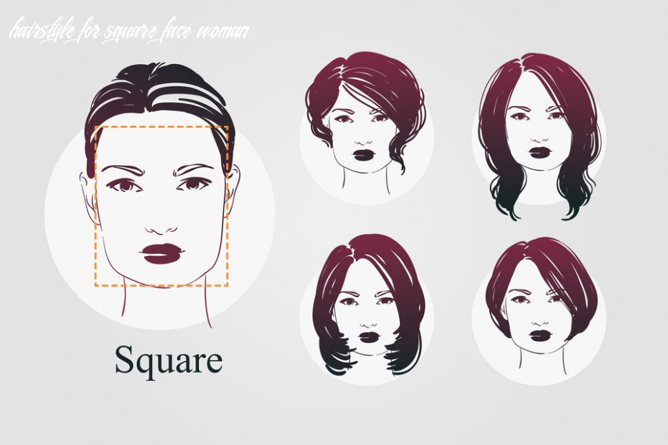 12 face shapes for women and best hairstyles for each | square face