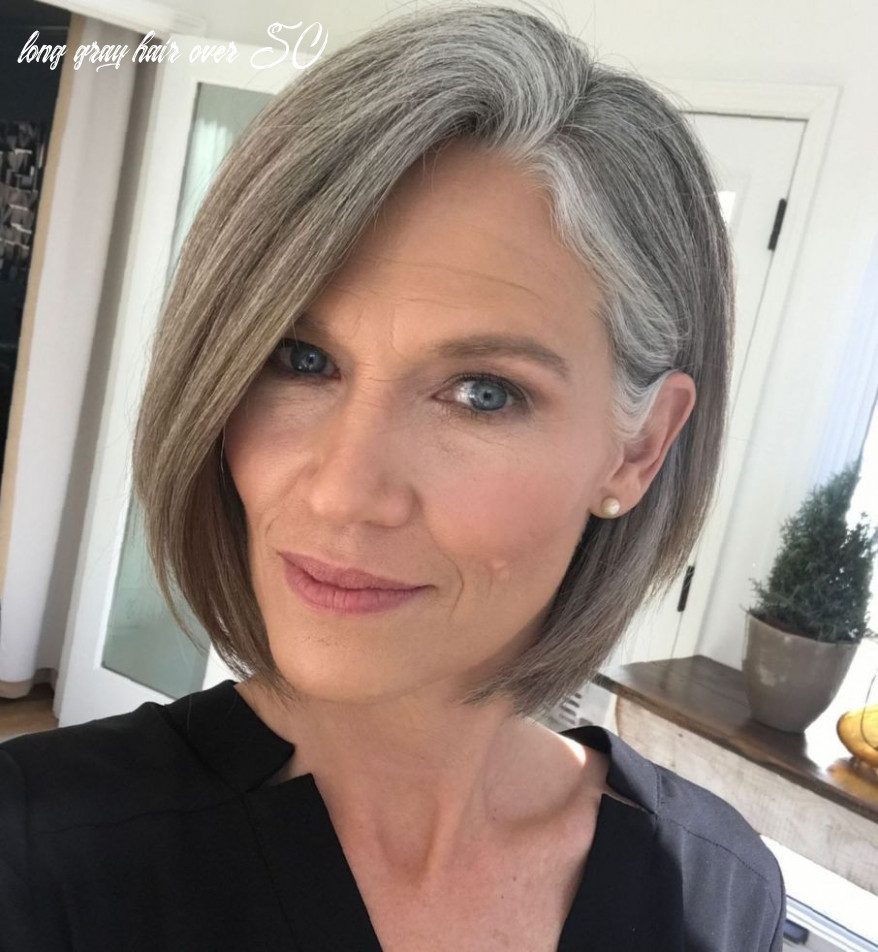 12 Gorgeous Gray Hair Styles | Long gray hair, Gray hair growing ...