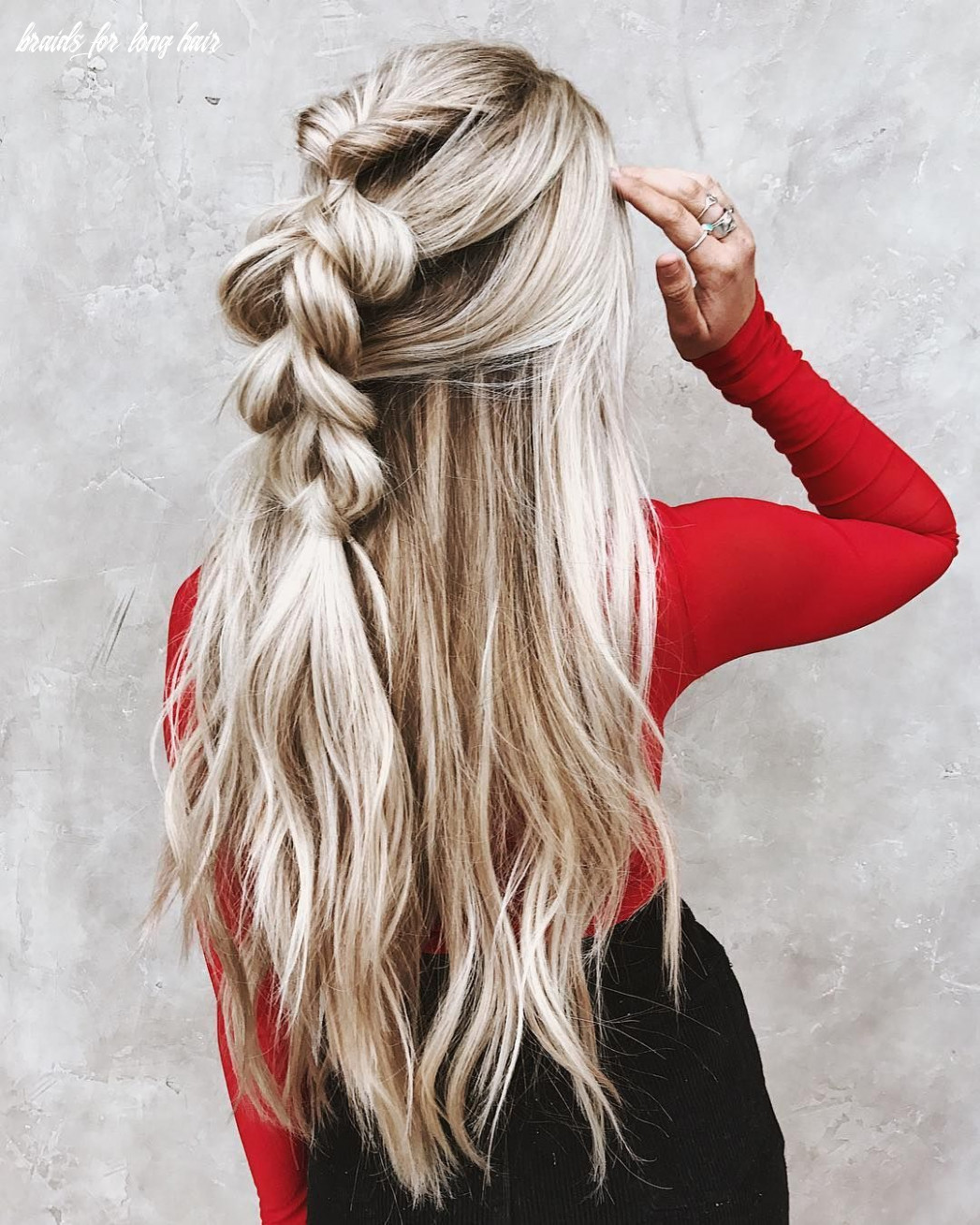 12 gorgeous messy braided long hairstyle ideas | messy braided