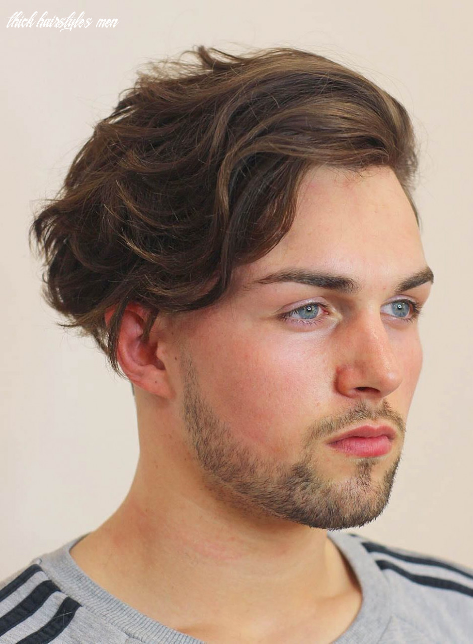 12 haircuts for men with thick hair (high volume) thick hairstyles men