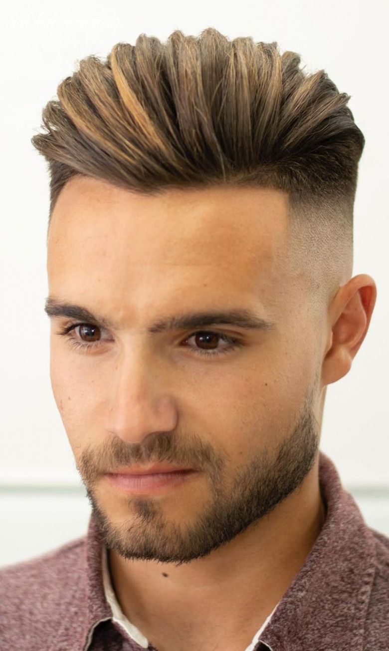 12 high fade pompadour hairstyle worth watching in 12 high fade pompadour