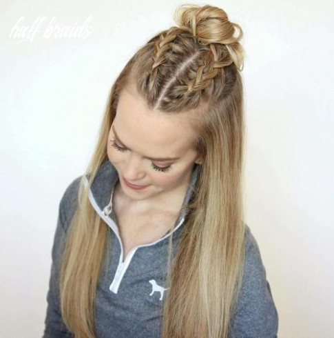 12 ideas how to spice up your half bun half braids