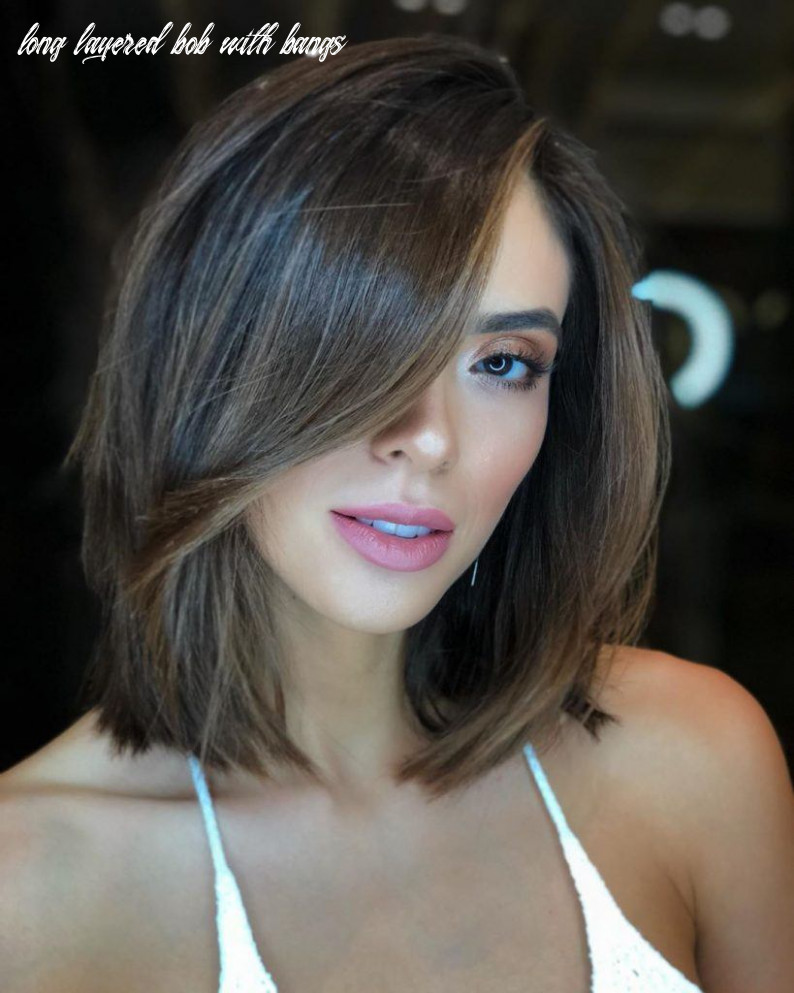 12 layered bob hairstyles to inspire your next haircut in 12 long layered bob with bangs