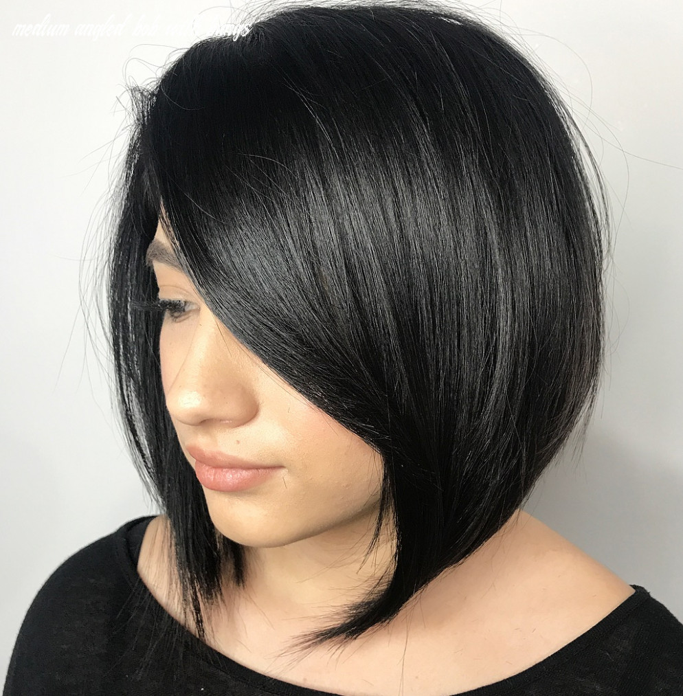 12 medium bobs from the best hairstylists hair adviser medium angled bob with bangs